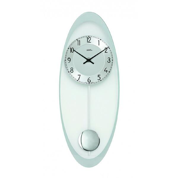 【正規輸入品】ドイツ アームス AMS 7416 クオーツ 掛け時計 (掛時計) 振り子つき シルバー 【記念品 贈答品に名入れ(銘板作成)承ります】【熨斗印刷承ります】[送料区分(大)]
