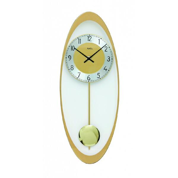 【正規輸入品】ドイツ アームス AMS 7417 クオーツ 掛け時計 (掛時計) 振り子つき ゴールド 【記念品 贈答品に名入れ(銘板作成)承ります】【熨斗印刷承ります】[送料区分(大)]