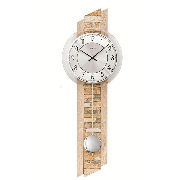 【正規輸入品】ドイツ アームス AMS 7423 クオーツ 掛け時計 (掛時計) 振り子つき ナチュラル 【記念品 贈答品に名入れ(銘板作成)承ります】【熨斗印刷承ります】[送料区分(大)]