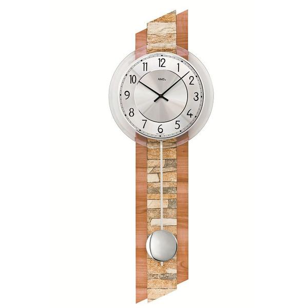 【正規輸入品】ドイツ アームス AMS 7424 クオーツ 掛け時計 (掛時計) 振り子つき ブラウン 【記念品 贈答品に名入れ(銘板作成)承ります】【熨斗印刷承ります】[送料区分(大)]