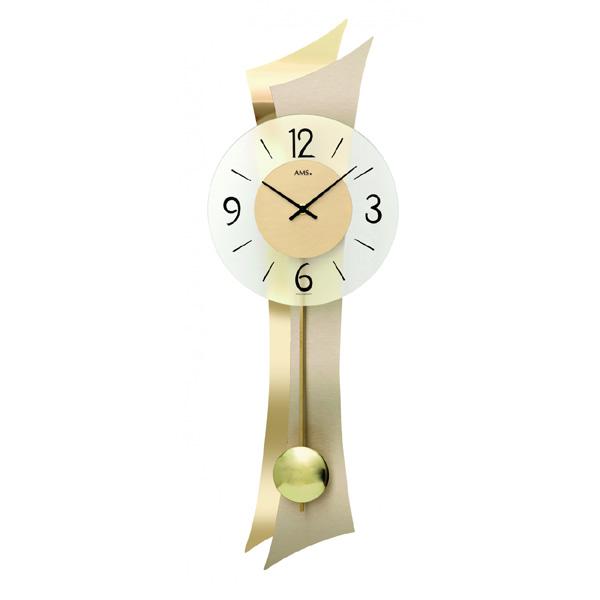 【正規輸入品】ドイツ アームス AMS 7427 クオーツ 掛け時計 (掛時計) 振り子つき ゴールド 【記念品 贈答品に名入れ(銘板作成)承ります】【熨斗印刷承ります】[送料区分(大)]
