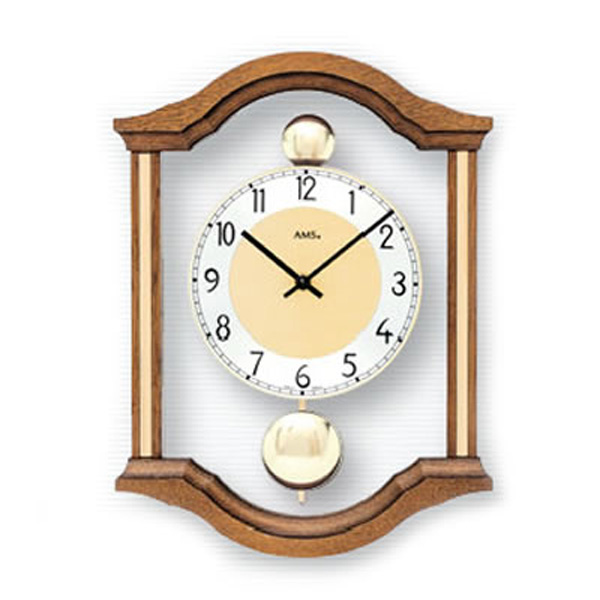 【正規輸入品】ドイツ アームス AMS 7447-4 クオーツ 掛け時計 (掛時計) ブラウン 【記念品 贈答品に名入れ(銘板作成)承ります】【熨斗印刷承ります】[送料区分(大)]
