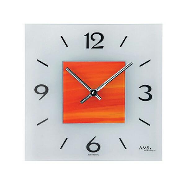 【正規輸入品】ドイツ アームス AMS 9260 クオーツ 掛け時計 (掛時計) オレンジ 【記念品 贈答品に名入れ(銘板作成)承ります】【熨斗印刷承ります】[送料区分(大)]