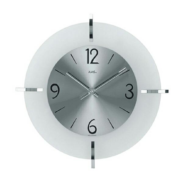 【正規輸入品】ドイツ アームス AMS 9285 クオーツ 掛け時計 (掛時計) シルバー 【記念品 贈答品に名入れ(銘板作成)承ります】【熨斗印刷承ります】[送料区分(大)]