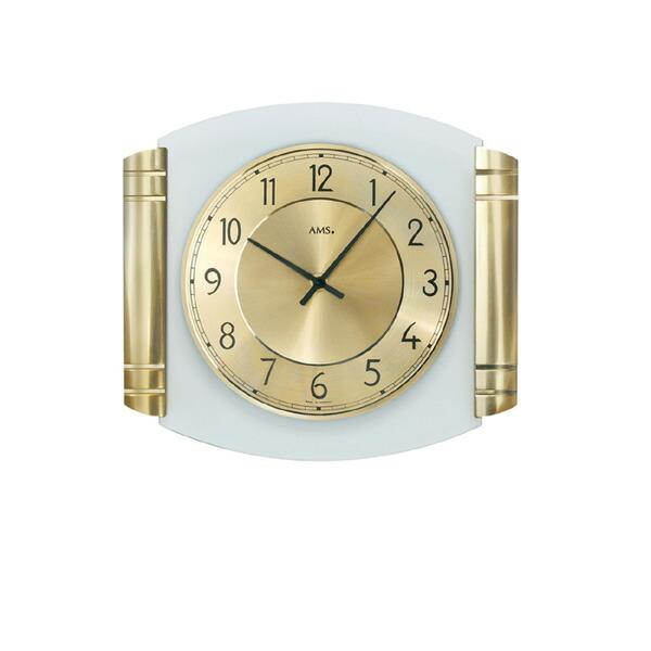 【正規輸入品】ドイツ アームス AMS 9377 クオーツ 掛け時計 (掛時計) ゴールド 【記念品 贈答品に名入れ(銘板作成)承ります】【熨斗印刷承ります】[送料区分(大)]