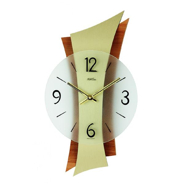 【正規輸入品】ドイツ アームス AMS 9396 クオーツ 掛け時計 (掛時計) ゴールド×ブラウン 【記念品 贈答品に名入れ(銘板作成)承ります】【熨斗印刷承ります】[送料区分(大)]