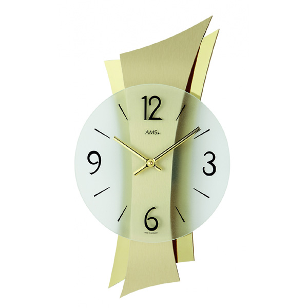 【正規輸入品】ドイツ アームス AMS 9397 クオーツ 掛け時計 (掛時計) ゴールド 【記念品 贈答品に名入れ(銘板作成)承ります】【熨斗印刷承ります】[送料区分(大)]