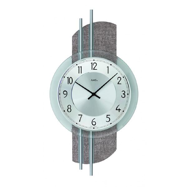 【正規輸入品】ドイツ アームス AMS 9412 クオーツ 掛け時計 (掛時計) シルバー 【記念品 贈答品に名入れ(銘板作成)承ります】【熨斗印刷承ります】[送料区分(大)]