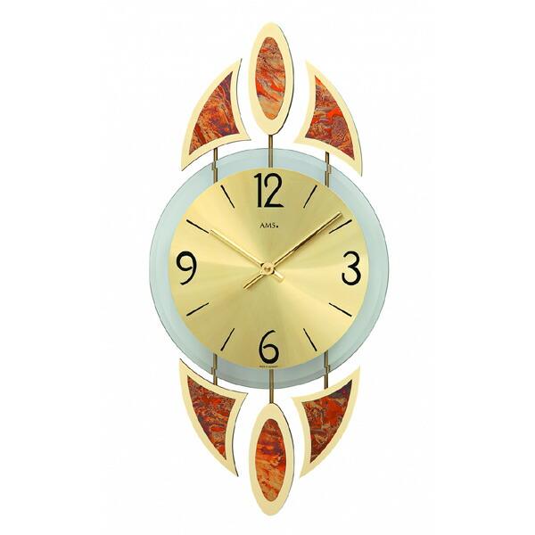 【正規輸入品】ドイツ アームス AMS 9437 クオーツ 掛け時計 (掛時計) ゴールド 【記念品 贈答品に名入れ(銘板作成)承ります】【熨斗印刷承ります】[送料区分(大)]