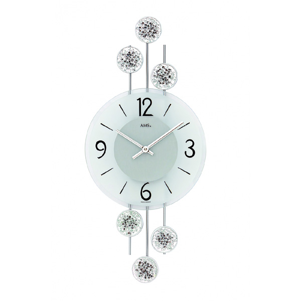 【正規輸入品】ドイツ アームス AMS 9440 クオーツ 掛け時計 (掛時計) シルバー 【記念品 贈答品に名入れ(銘板作成)承ります】【熨斗印刷承ります】[送料区分(大)]