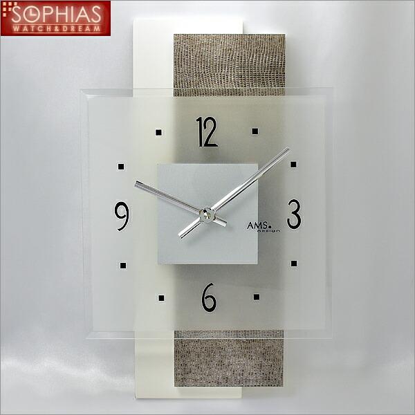【正規輸入品】ドイツ アームス AMS 9442 クオーツ 掛け時計 (掛時計) グレー 【記念品 贈答品に名入れ(銘板作成)承ります】【熨斗印刷承ります】[送料区分(大)]