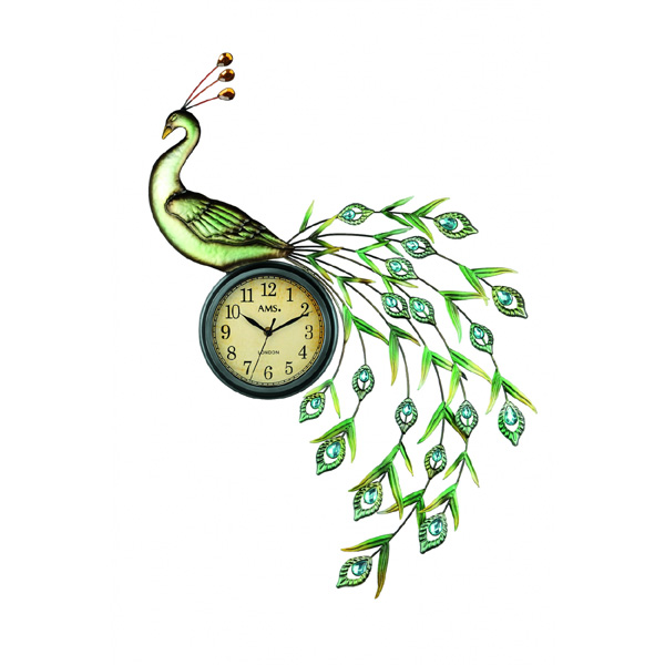 【正規輸入品】ドイツ アームス AMS 9447 クオーツ 掛け時計 (掛時計) Peacock 【記念品 贈答品に名入れ(銘板作成)承ります】【熨斗印刷承ります】[送料区分(大)]