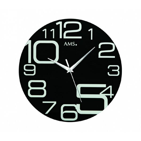 【正規輸入品】ドイツ アームス AMS 9461 クオーツ 掛け時計 (掛時計) ブラック 【記念品 贈答品に名入れ(銘板作成)承ります】【熨斗印刷承ります】[送料区分(大)]