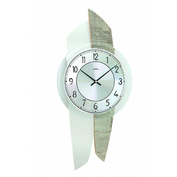 【正規輸入品】ドイツ アームス AMS 9498 クオーツ 掛け時計 (掛時計) モルタル 【記念品 贈答品に名入れ(銘板作成)承ります】【熨斗印刷承ります】[送料区分(大)]