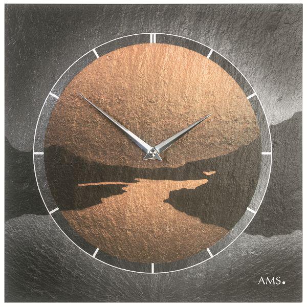 【正規輸入品】ドイツ アームス AMS 9513 クオーツ 掛け時計 (掛時計) スレート 【記念品 贈答品に名入れ(銘板作成)承ります】【熨斗印刷承ります】[送料区分(大)]