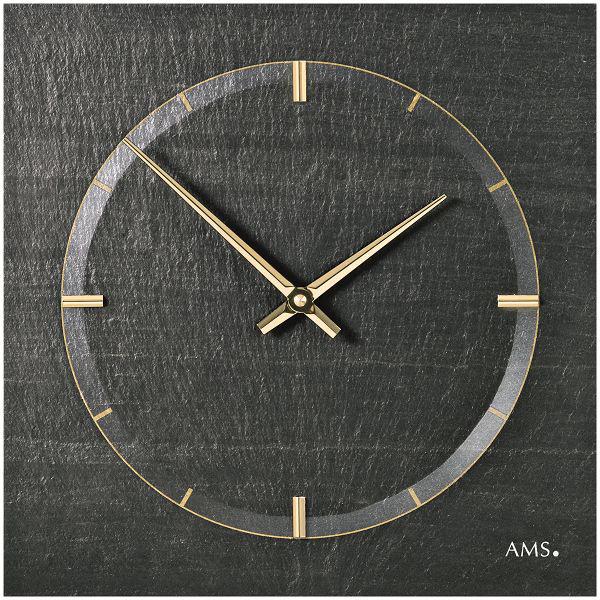 【正規輸入品】ドイツ アームス AMS 9516 クオーツ 掛け時計 (掛時計) スレート 【記念品 贈答品に名入れ(銘板作成)承ります】【熨斗印刷承ります】[送料区分(大)]