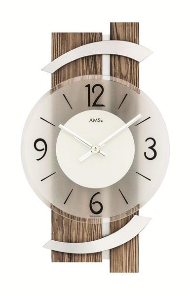 【正規輸入品】ドイツ アームス AMS 9545 クオーツ 掛け時計 (掛時計) ブラウン木目 【記念品 贈答品に名入れ(銘板作成)承ります】【熨斗印刷承ります】[送料区分(大)]