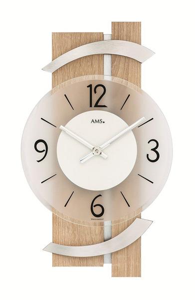 【正規輸入品】ドイツ アームス AMS 9546 クオーツ 掛け時計 (掛時計) ナチュラル 【記念品 贈答品に名入れ(銘板作成)承ります】【熨斗印刷承ります】[送料区分(大)]