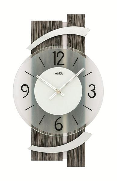 【正規輸入品】ドイツ アームス AMS 9547 クオーツ 掛け時計 (掛時計) グレー木目 【記念品 贈答品に名入れ(銘板作成)承ります】【熨斗印刷承ります】[送料区分(大)]