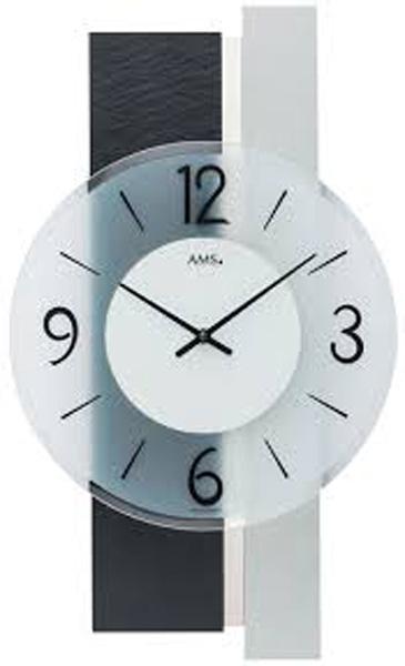 【正規輸入品】ドイツ アームス AMS 9555 クオーツ 掛け時計 (掛時計) ブラック 【記念品 贈答品に名入れ(銘板作成)承ります】【熨斗印刷承ります】[送料区分(大)]