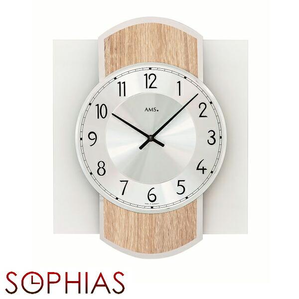 ファッション 【正規輸入品】ドイツ アームス AMS 9561 クオーツ 掛け時計 (掛時計) ナチュラル 【記念品 贈答品に名入れ(銘板作成)承ります】【熨斗印刷承ります】[送料区分(大)], 葛巻町 4b6884e7