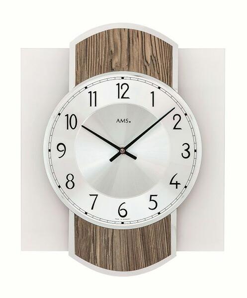 【正規輸入品】ドイツ アームス AMS 9562 クオーツ 掛け時計 (掛時計) ブラウン木目 【記念品 贈答品に名入れ(銘板作成)承ります】【熨斗印刷承ります】[送料区分(大)]
