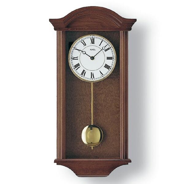 【正規輸入品】ドイツ アームス AMS 990-1 木製クオーツ柱時計 振り子つき ダークブラウン 【記念品 贈答品に名入れ(銘板作成)承ります】【熨斗印刷承ります】[送料区分(大)]