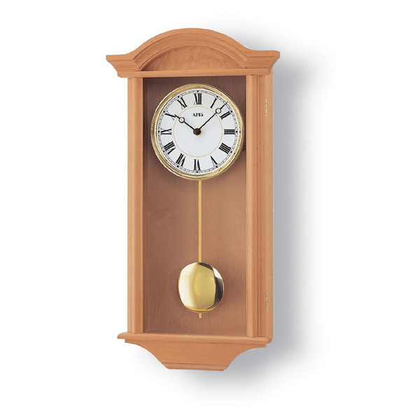 【正規輸入品】ドイツ アームス AMS 990-16 木製クオーツ柱時計 振り子つき ライトブラウン 【記念品 贈答品に名入れ(銘板作成)承ります】【熨斗印刷承ります】[送料区分(大)]