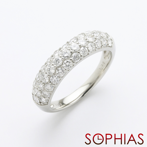 Stainless Steel Brushed Half Round CZ Ring Size 13 Length Width 5.5
