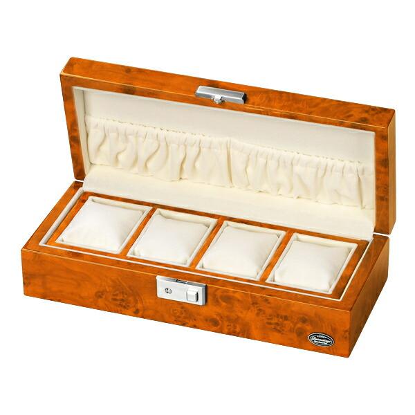 腕時計収納ケース LUHW ローテンシュラガー LU51005RW 木製 4本収納 薄木目