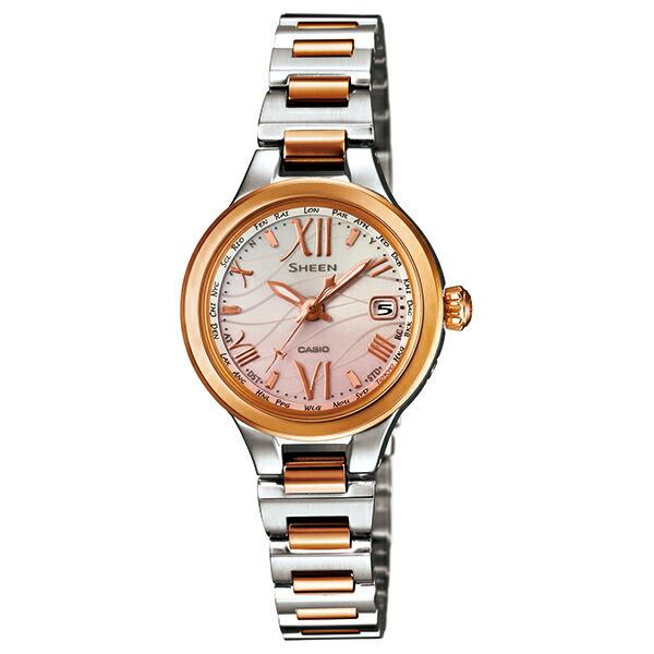 カシオ シーン SHW-1700SG-4AJF 電波ソーラー ピンクゴールド レディース腕時計 【長期保証5年付】