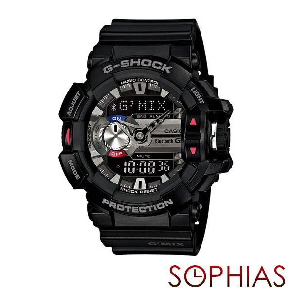 カシオ Gショック GBA-400-1AJF 腕時計 G'MIX Gミックス ブラック クオーツ 【長期保証8年付】