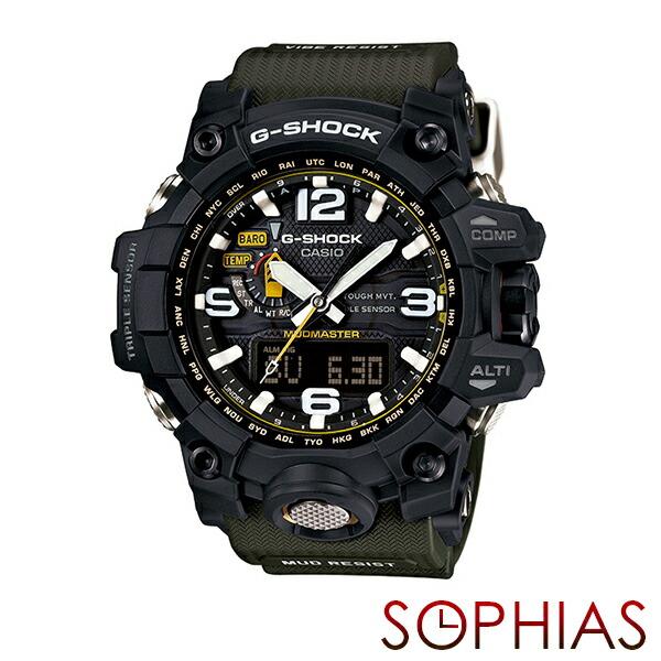 カシオ Gショック GWG-1000-1A3JF 腕時計 マッドマスター ブラック×カーキ 電波ソーラー 【長期保証10年付】