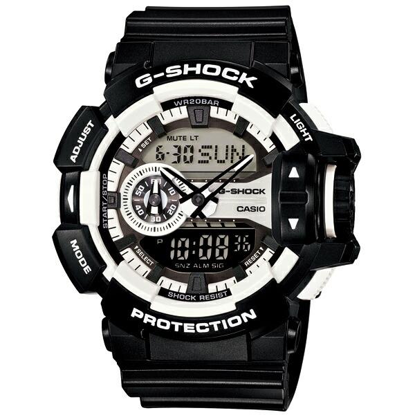 カシオ Gショック GA-400-1AJF 腕時計 ハイパーカラーズ ブラック×ホワイト クオーツ 【長期保証8年付】