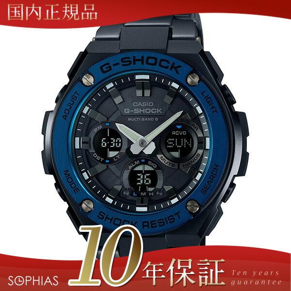 카시오 G쇼크 GST-W110BD-1 A2JF 손목시계 G스틸 블랙 전파 솔러