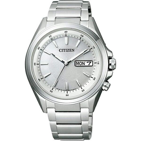 シチズン アテッサ AT6040-58A CITIZEN ATTESA エコ・ドライブ 電波時計 シルバー メンズ腕時計 【長期保証5年付】
