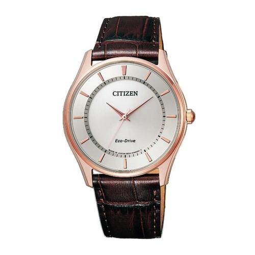 シチズン コレクション BJ6482-04A エコ・ドライブ ピンクゴールド カーフ革 メンズ腕時計 【長期保証5年付】