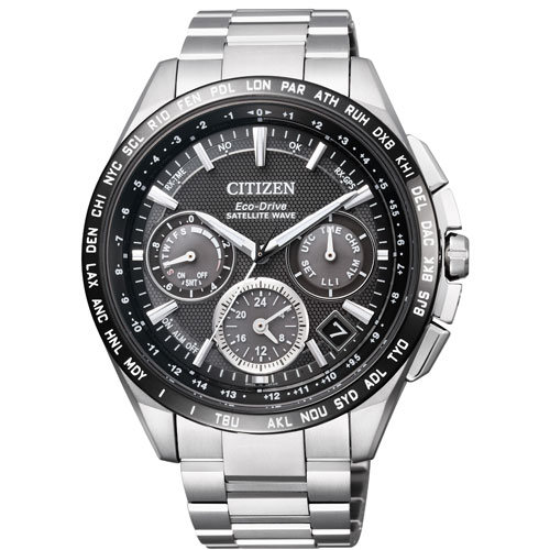 シチズンアテッサCITIZENATTESAエコ・ドライブ電波時計ダイレクトフライトブラックメンズ腕時計CC9015-54E