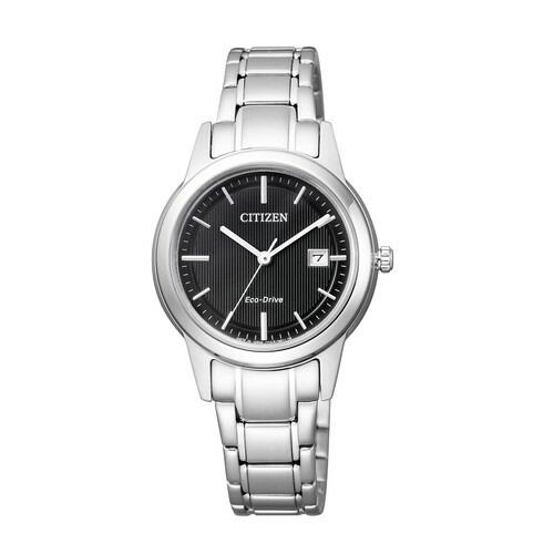 シチズン コレクション FE1081-67E エコドライブ ブラック×シルバー レディース腕時計 【長期保証5年付】
