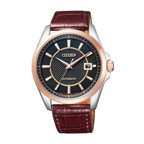シチズン コレクション NB1044-01E メカニカル 自動巻 ピンクゴールド ワニ革 メンズ腕時計 【長期保証5年付】