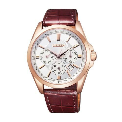 シチズン コレクション NB2024-02A メカニカル 自動巻 ピンクゴールド ワニ革 メンズ腕時計 【長期保証5年付】