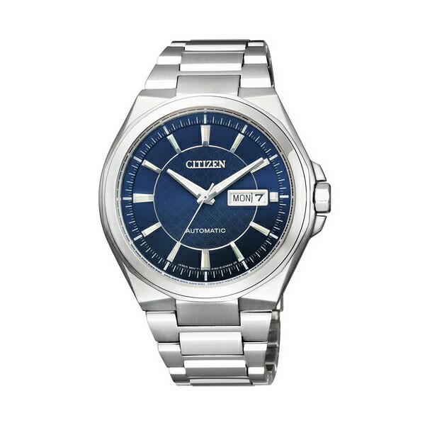 シチズン コレクション NP4080-50L メカニカル 自動巻 ブルー×シルバー メンズ腕時計 【長期保証5年付】