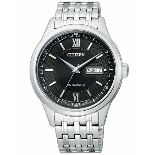 シチズン コレクション NY4050-54E メカニカル 自動巻 ブラック×シルバー メンズ腕時計 【長期保証5年付】