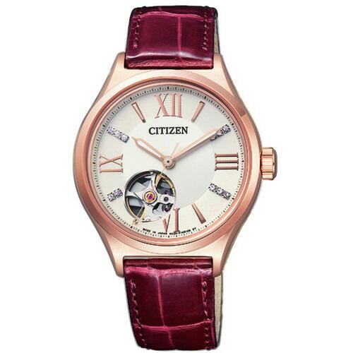 シチズン CITIZEN コレクション メカニカル 自動巻 ピンクゴールド ワニ革 レディース腕時計 PC1002-00A 【長期保証5年付】