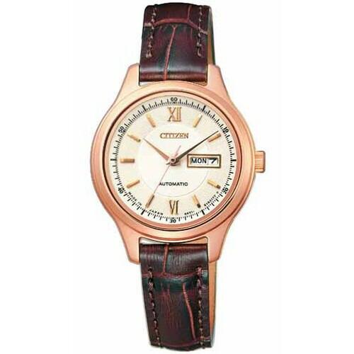 シチズン コレクション メカニカル ピンクゴールド カーフ革 レディース腕時計 PD7152-08A 【長期保証5年付】