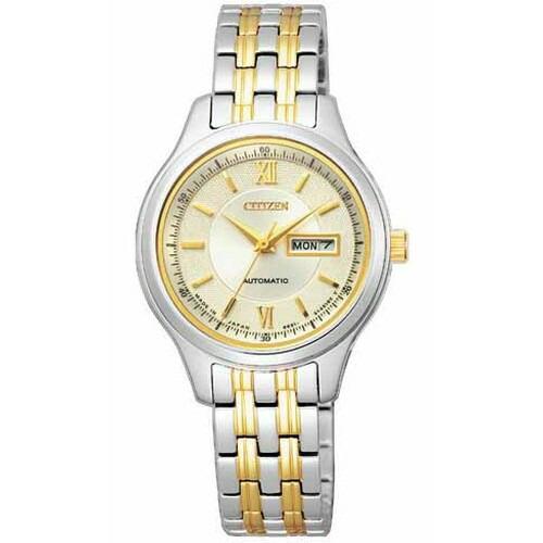 シチズン コレクション メカニカル ゴールド×シルバー レディース腕時計 PD7154-53P 【長期保証5年付】