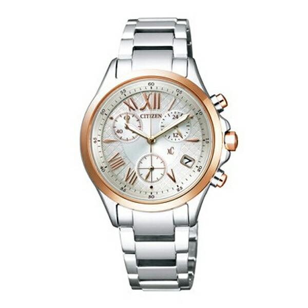 シチズン クロスシー FB1404-51A CITIZEN XC エコドライブ クロノグラフ シルバー×ピンクゴールド レディース腕時計 【長期保証5年付】