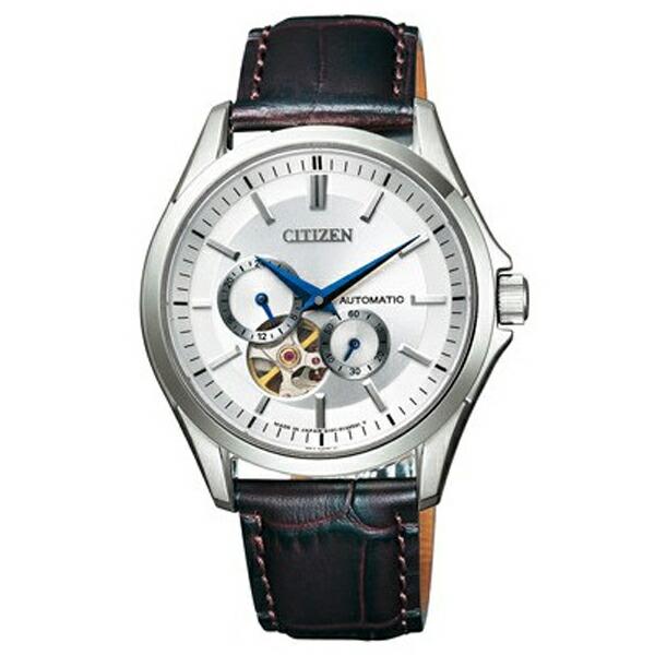 シチズン コレクション NP1010-01A メカニカル 自動巻 シルバー カーフ革 メンズ腕時計 【長期保証5年付】