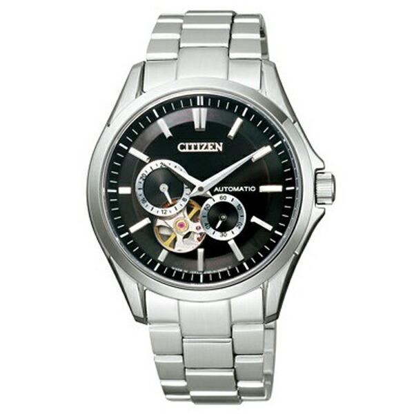 シチズン コレクション NP1010-51E メカニカル 自動巻 シルバー×ブラック メンズ腕時計 【長期保証5年付】