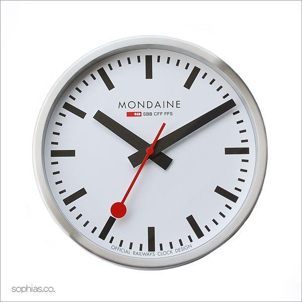モンディーン MONDAINE A990.CLOCK.16SBB/MD40W Wall Clock ウォールクロック 壁掛け時計 ホワイト [正規輸入品][送料区分(中)]